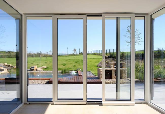 Раздвижные окна из двери из алюминия от производителя Геолэнд